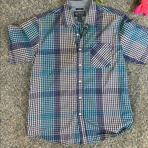 American Rag Blue Casual Button Down Size L